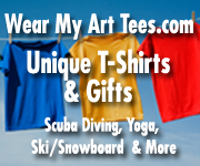 WearMyArtTees.com-t-shirts for scuba divers, yoga, ski and snowboard and more