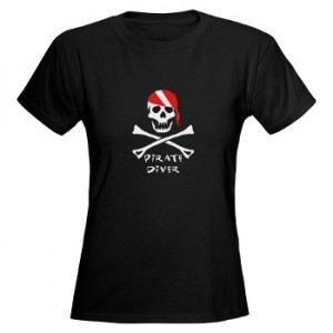 Ladies Pirate Diver dark t-shirt