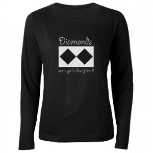 Diamond are a girl's best friend t-shirt