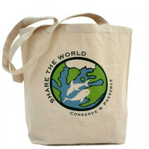 Share the World canvas tote bag