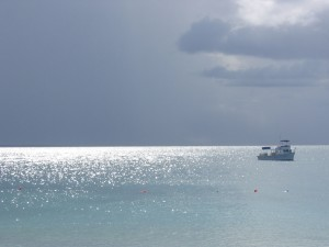 The view from the beach of Grace Bay, Provodenciales