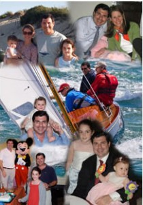 50th Birthday digital photo montage for a sailor and a dad