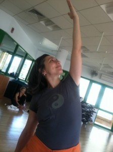 Surya my yoga instructor wearing a Life is Balance T-shirt
