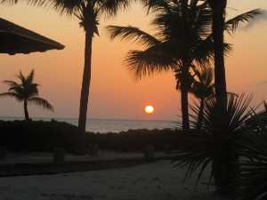 Sunset in the Turks & Caicos