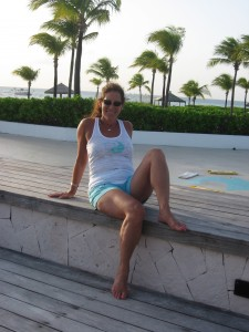 Sheryl Checkman in the Turks & Caicos on vacation