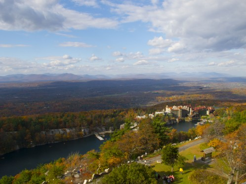 View from the top of the Tower at Mohonk