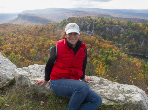 Sheryl Checkman makes it to the top of Mohonk Mountain