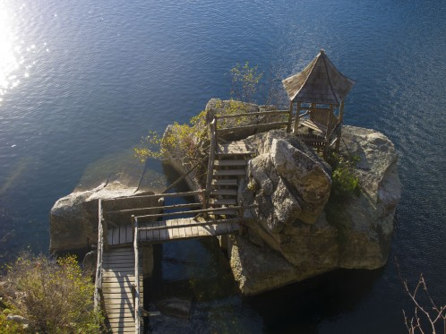 Pagoda on Mohonk Lake