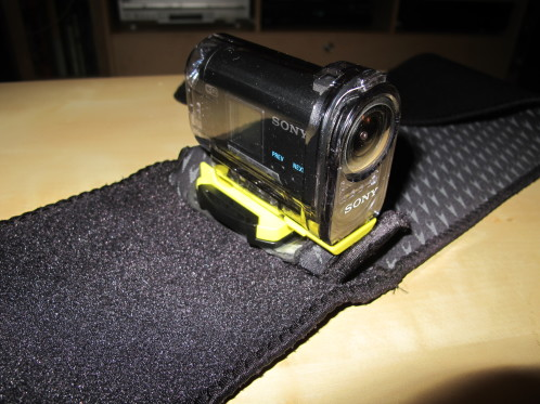 Sony Action Cam on Neoprene belt