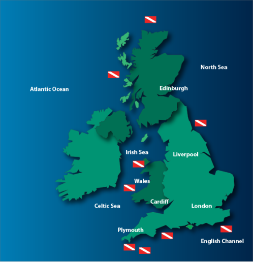 Dive sites around the United Kingdom