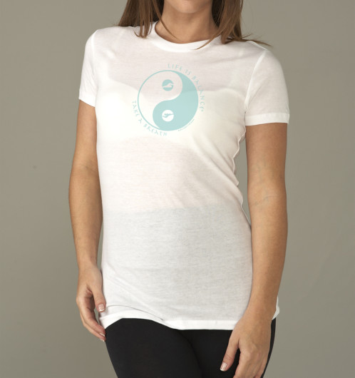"Life is Balance ""Take a breath"" inspirational t-shirt"