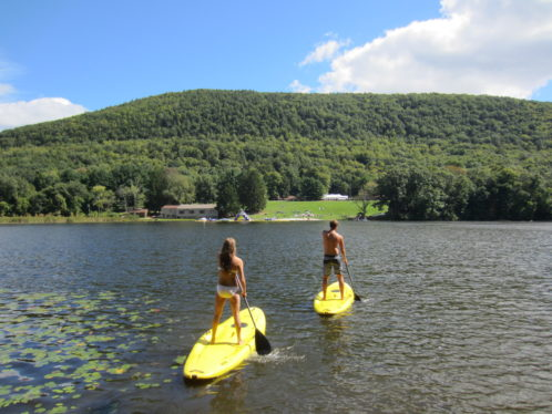 Paddle boarding at Club Getaway